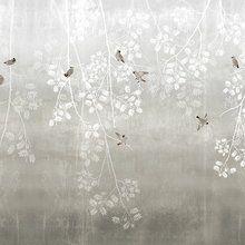Wall mural - Bohemian Birds - Beige