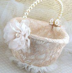 Anello cuscino portatore ragazza di fiore cestino di SolBijou