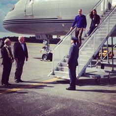 Twitter / britishroyals: William & Kate arrive in ...