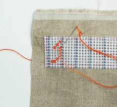 cross stitching with waste canvas