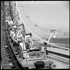 Giant Roller Coaster VPL 43219 Date: 1961 Photographer/Studio: Province Newspaper Sedawie, Gordon F. Canadian History, Local History, Crazy Beach Party, Cedar Point, Wooden Coasters, Photographic Studio, Vintage Pictures, Vintage Images, Most Beautiful Cities