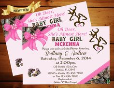 Peek A Boo Camo Baby Shower Invitation By Momentsinlifedesigns