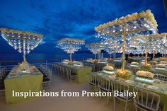 Inspirations by Preston Bailey Extravagant, alluring and splendiferous, expect nothing less than finery with Preston Bailey. #BridalGuideMalaysia #BridalGuideMagazine