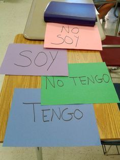 Four corners activity: incorporating movement is an effective way to teach Spanish vocabulary and common Spanish grammatical structures with kids learning Spanish. http://lugarparapensar.wordpress.com/2014/09/24/four-corners-take-vocabulary-practice-out-of-the-classroom/