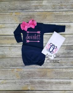 e14f2428239e Items similar to Baby Girl Coming Home Outfit
