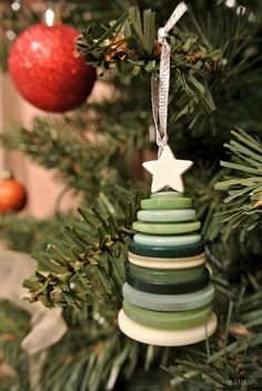 Button Christmas tree decoration