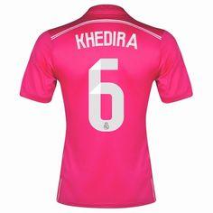 0211cafcb80 Sami Khedira 6 14 15 Real Madrid Away Soccer Jersey shirt Real Madrid 2014