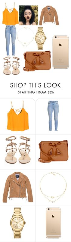 """""""Untitled #315"""" by askariwilson on Polyvore featuring MANGO, Valentino, Kate Spade, Marc New York and Michael Kors"""