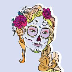 #mexicanskull #illustration #design #graphic #graphicdesign #drawing #digitalart #digital #arte #art #artwork #artgallery #portrait #woman #illustrations