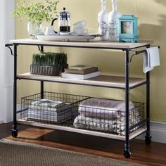 Rustic Wheeled Cart from Through the Country Door®