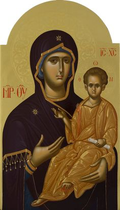 Byzantine Icons, Byzantine Art, Paint Icon, Queen Of Heaven, Mary And Jesus, Madonna And Child, Blessed Virgin Mary, Orthodox Icons, Religious Art