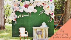 DIY Photo Booth Backdrop - Here's how to construct a great backdrop for your photo booth to make a stunning photo op for the bride and groom and their guests.