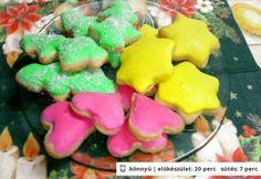 Színes karácsonyi mézeskalács Sugar, Cookies, Desserts, Food, Crack Crackers, Tailgate Desserts, Deserts, Biscuits, Essen