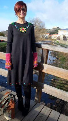 De Tacones y Bolsos: Vestido bordado de La Casita de Wendy