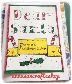 Dear Santa  My Christmas List  Personalised Cute Card To