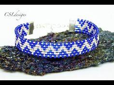 Beaded zig zag wirewoven bracelet video tutorial by CSL Designs on YouTube.
