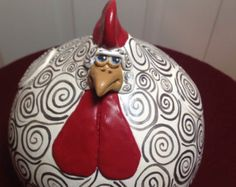 Sitting Chicken Gourd by somethin123 on Etsy