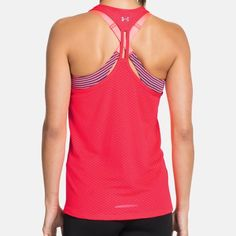 Under Armour workout tank - read description! New with tags. Very cute and lightweight for ultimate comfort and breathability while working out!! ***Please note that the size large is pink as seen in first photo and the XL is more of a neon coral/orange as seen in last photo*** Under Armour Tops Tank Tops