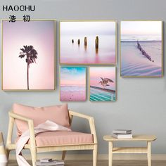 Nordic Art – Page 24 – Improve your house and yourself Canvas Painting Landscape, Painting Art, Pink Ocean, Nordic Art, Cheap Paintings, Geometric Wall Art, Poster Prints, Art Prints, Decorating With Pictures