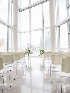 art gallery inspiration | modern | chic | clean | white | v/ wedding bells |