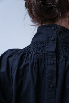 Anaak Majorelle Smocked Blouse Black
