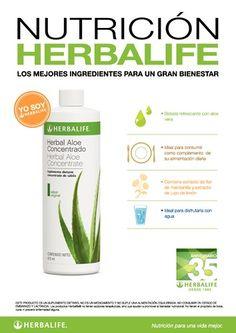 Afiche Nutrición Herbalife - Herbal Aloe Concentrado