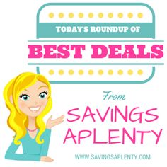 TODAY'S BEST DEALS ROUNDUP: Cheap Paper Towels, FREE Cat Food & MORE! TODAY'S BEST DEALS ROUNDUP: Cheap Paper Towels, FREE Cat Food & MORE! In case you missed some of the awesome deals posted on the blog today, here is a roundup post for you with all of the best deals from today! HOT! Large 20 oz. Insulated Mason Jar Tumblers Only $2! FREE Can of H... http://www.savingsaplenty.com/deals-roundup-cheap-paper-towels/