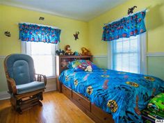 Nice younger boy's bedroom.