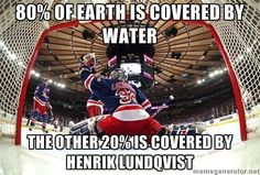 Henrik Lundqvist is a great hockey golie Hockey Rules, Hockey Mom, Hockey Teams, Hockey Players, Ice Hockey, Hockey Stuff, Rangers Game, Rangers Hockey, Funny Hockey Memes