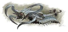 "Going Big: Guillermo del Toro Creates Bot Vs. Monster Spectacle For ""Pacific Rim"" Alien Creatures, Fantasy Creatures, Mythical Creatures, Monster Design, Monster Art, Fantasy Monster, Creature Feature, Creature Design, Aliens"