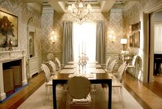 I believe this is Miss Blair Waldorf's dining room!? Stunning use of the louis ghost chair with comfort!!