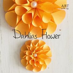 Dahlias Flowers | Follow @ventunoart #diy #diyproject #diyvideos #diytutorial #diycrafts #papercraft #flower #flowers #dhalias #flowering…