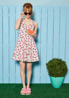 Flare Maiden Dress in Melons, @ModCloth