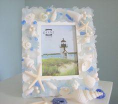 Sea Glass & Seashell Frame, Sea & Beach Craft