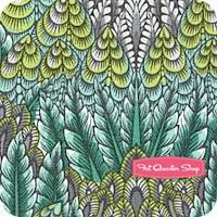 Fox Field Shade Botanica Yardage SKU. Tula Pink Fox Field via Fat Quarter Shop.