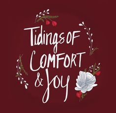 Tidings of Comfort & Joy Wall Tapestry by kpie Warm Bed, Comfort And Joy, Warm Blankets, Breakfast In Bed, Christmas Signs, Happy Thanksgiving, Favorite Person, Silhouette Cameo, Wall Tapestry