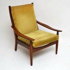 Retro Low Slung Armchair Vintage 1960's