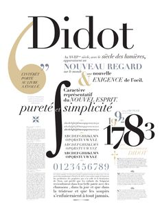 Spécimen Didot on Behance
