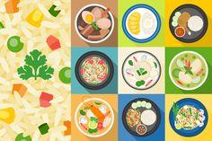 Thai Food Vector, Flat design by lukpedclub on @creativemarket