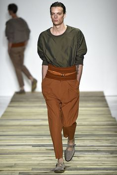 A look from the Robert Geller Spring 2016 Menswear collection.
