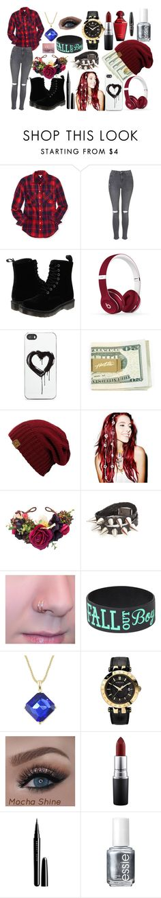 """""""Rich and lonely"""" by bonster-monster on Polyvore featuring Aéropostale, Topshop, Dr. Martens, Beats by Dr. Dre, Zero Gravity, VidaKush, Versace, MAC Cosmetics, Marc Jacobs and Essie"""