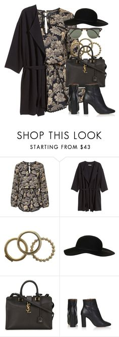 """Style #9453"" by vany-alvarado ❤ liked on Polyvore featuring Topshop, H&M, Dolce&Gabbana, Yves Saint Laurent and Ray-Ban"