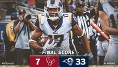 2017 Game #9: Texans-7 vs. LA Rams-33 @ Home...Rams win improves to 7-2, 1st NFC West. (twitter.image) 11.12.17 (Sun)