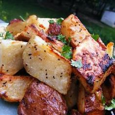 """Quick and Easy Grilled Potatoes 