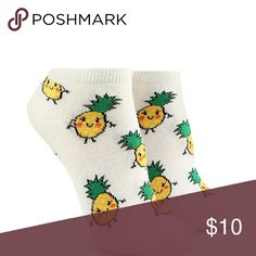 Pineapple Graphic Ankle Socks  New! Ankle Socks with Pineapple Graphics from Forever 21 Forever 21 Accessories Hosiery & Socks
