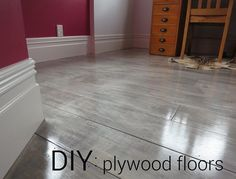 graywash plywood floors - this is the color I want and how to achieve it