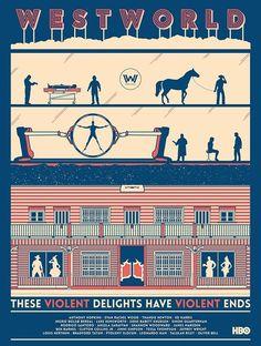 Westworld poster by John Conlon : westworld