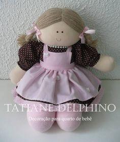 Jessiquinha de jardineira | Ateliê Tatiane Delphino | Elo7