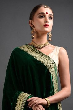 ea34059fce00d Paisley Gold Tilla Embroidered Emerald Green Lehenga Outfit Paisley  Embroidery