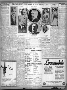 Prominent Persons on the Titanic